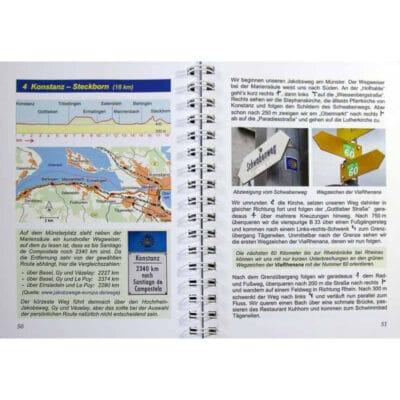 Blick ins Buch mit Wegbeschreibung und Bildern.