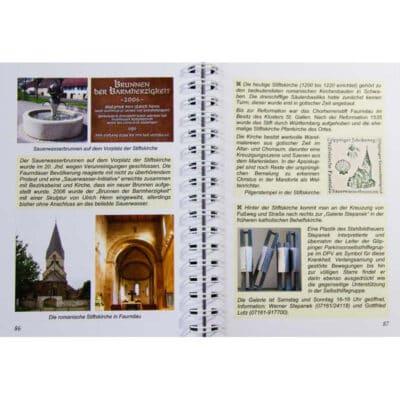 Blick ins Buch mit Wegbeschreibung zur Station 18 .