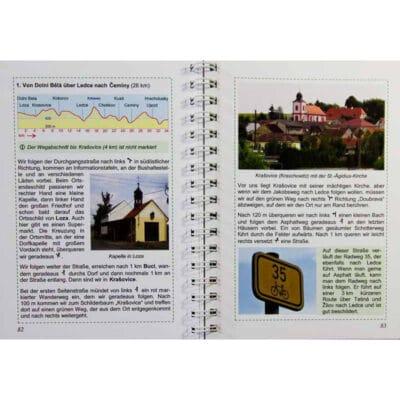 Blick ins Buch mit Wegbeschreibung, Höhenprofil sowie Bildern und Infos.