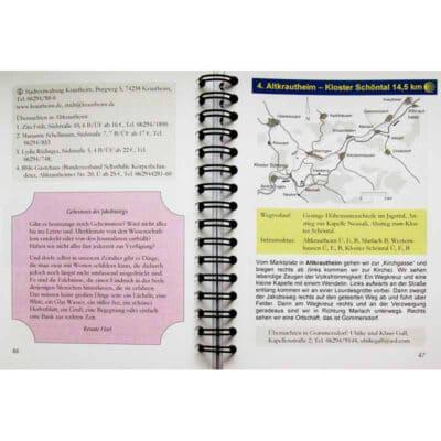 Blick ins Buch mit Wegbeschreibung, Karte und Informationen.
