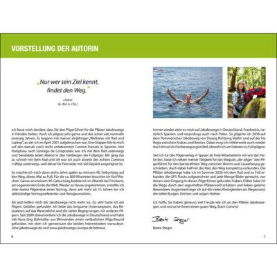 Blick ins Buch mit Wegbeschreibung, Karte und Höhenprofil.
