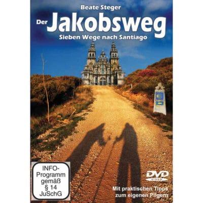 Cover der DVD zeigt die Kathedrale in Santiago und den Weg dorthin mit Wegzeichen.