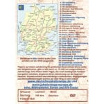 Die Rückseite des Covers zeigt die Deutschlandkarte und die Wege (in blau), die auf der DVD vorgestellt werden.