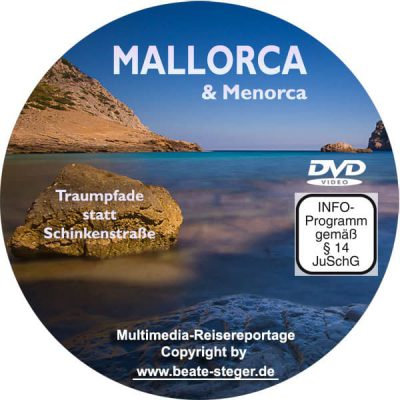Cover der DVD zeigt den Blick aus einer Höhle auf die Westküste Mallorcas.