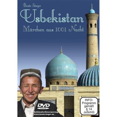Cover der DVD zeigt Grabstätte von Timur Lenk, das Gur-Emir-Mausoleum und einen Usbeken.
