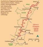 Kartenausschnitt der detaillierten Strecke Jakobsweg Elsass.