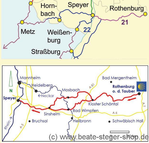 Pilgerfuhrer Der Jakobsweg Von Rothenburg O D T Speyer Shop