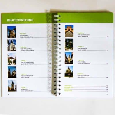 Inhaltsverzeichnis mit Bildern und Seitenzahlen.