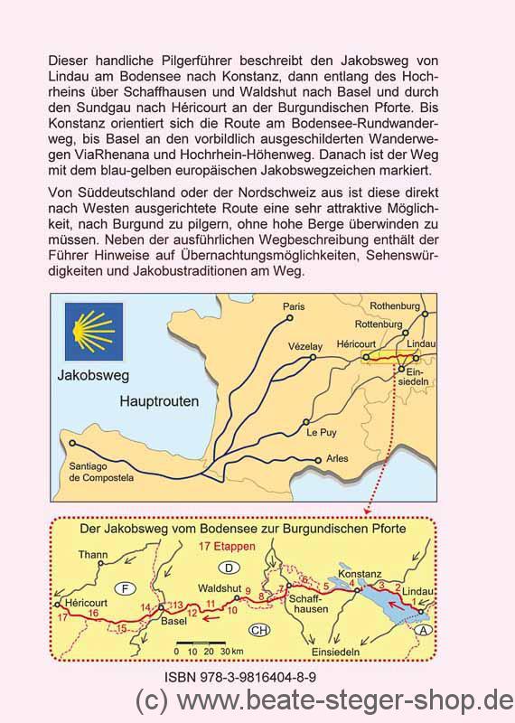 Schw303244bische Alb Karte.Jakobsweg Karte Deutschland Frankreich