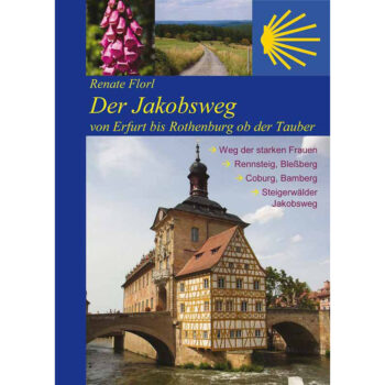 Bild von Brücke beim Alten Rathaus in Bamberg, über die der Jakobsweg führt.