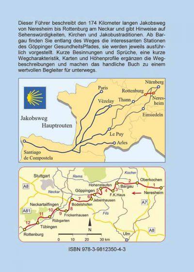 Wegbeschreibung und Karten des Jakobswegs von Neresheim nach Rottenburg.