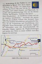 Wegbeschreibung und Karte des Jakobswegs von Rothenburg nach Speyer.