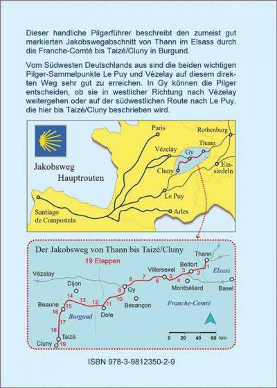 Wegbeschreibung und Karten des Jakobswegs von Thann nach Taize.
