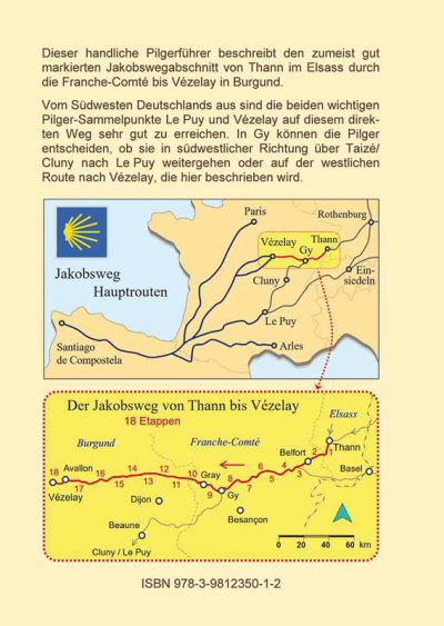 Beschreibender Text zum Jakobsweg und Karten des Weges.