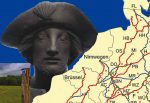 Karte und Bilder von Jakobswegen in Europa.